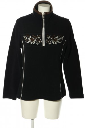 CMP Fleece Jumper black flower pattern casual look