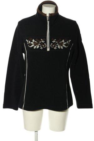 CMP Pullover in pile nero motivo floreale stile casual