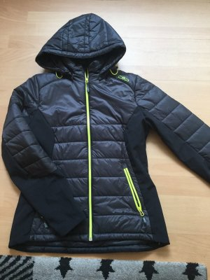 CMP Softshell Jacket black-neon yellow