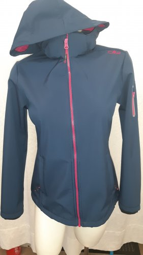 CMP Softshell Jacket raspberry-red-dark blue