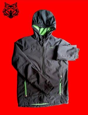 CMP Chaqueta softshell negro-verde