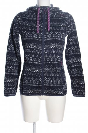CMP Hoody blue-white allover print casual look