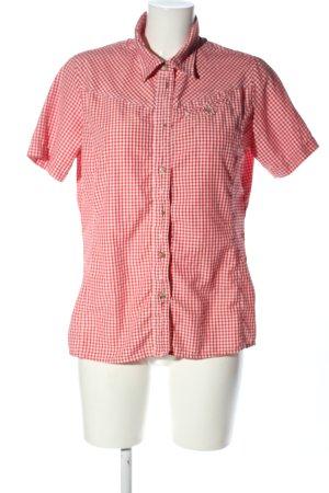 CMP Camicia a maniche corte bianco-rosso stampa integrale stile professionale
