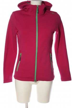 CMP Softshelljack roze-groen atletische stijl