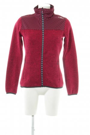 CMP Sports Jacket red-black mixed pattern casual look