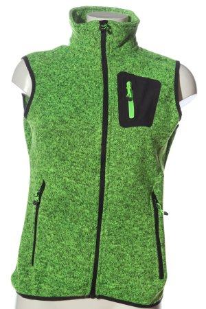 CMP Chaleco deportivo verde-negro look casual