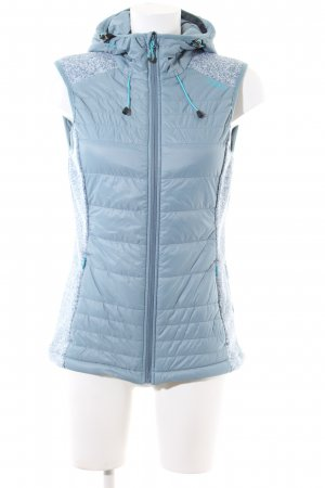CMP Quilted Gilet blue flecked casual look