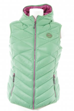 CMP Quilted Gilet lime-green-violet quilting pattern casual look