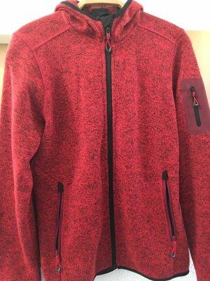 CMP Strickjacke Gr.42 rot wie neu mit Kapuze