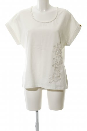CMP T-Shirt natural white flower pattern casual look