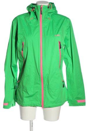 CMP Übergangsjacke grün-pink Casual-Look