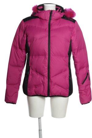 CMP Winterjacke pink-schwarz Steppmuster Casual-Look