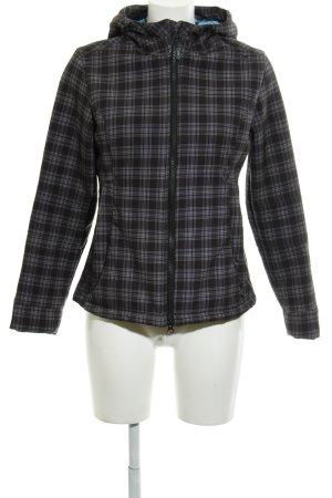 CMP Winter Jacket black-grey check pattern athletic style