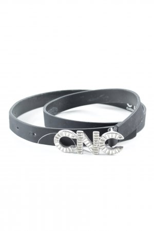 CNC Leather Belt black elegant