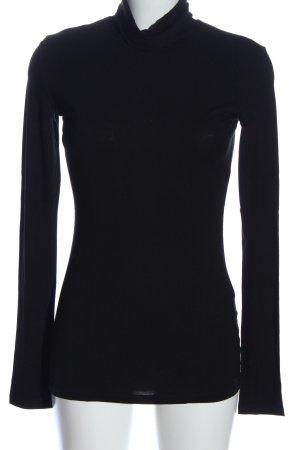 CNC Koszulka z golfem czarny W stylu casual