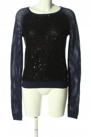 CNC Knitted Sweater black casual look