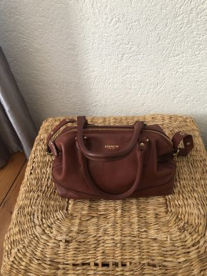 Coach Handbag cognac-coloured leather