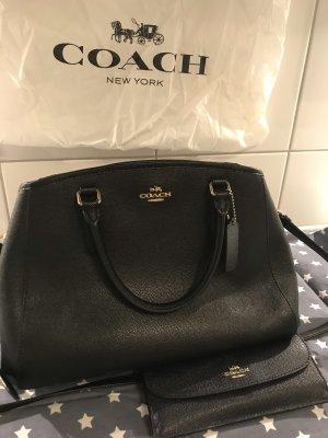 Coach Mochila de colegio negro-color oro