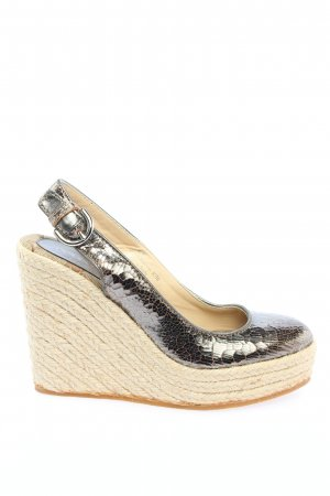 Coach Espadrille Sandals silver-colored abstract pattern casual look