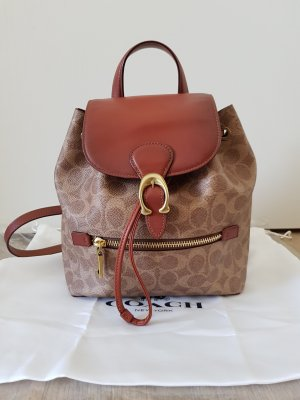 Coach Trekking Backpack light brown-brown leather
