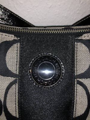 Coach Carry Bag silver-colored-black
