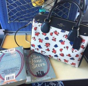 Coach floral print Boston Tasche/Umhängetasche/boston bag/