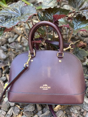 Coach Handbag bordeaux leather