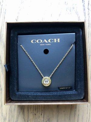 COACH Halskette Gold Strasssteine