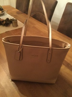 Coach Shopper beige leather