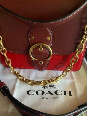 Coach Handbag dark red-carmine leather