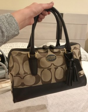 Coach Handbag black brown-cream