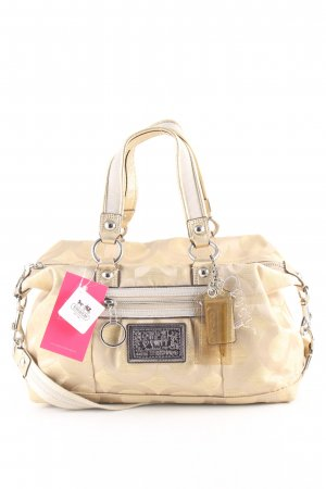 Coach Carry Bag cream allover print casual look
