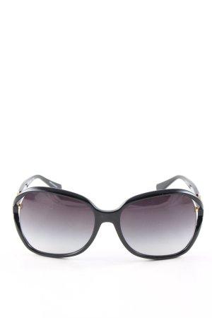 Coach Vierkante bril zwart-lila kleurverloop casual uitstraling