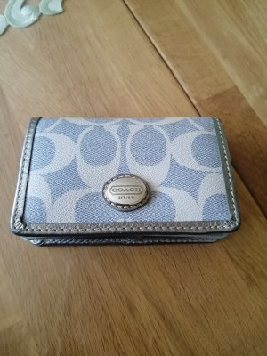 Coach Card Case silver-colored-grey