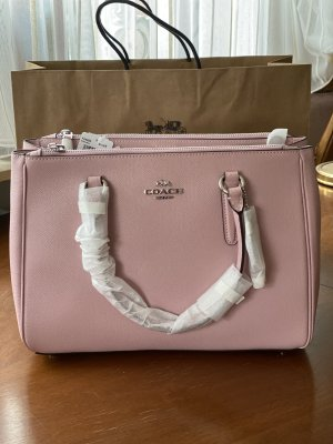 Coach Large Pink Leather Surrey Carryall Satchel