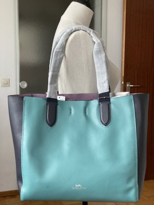 Coach Leather shopper in green and purple