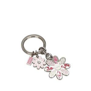 Coach Metal Floral Key Ring