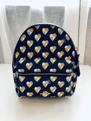 Coach Mini Backpack yellow-dark blue