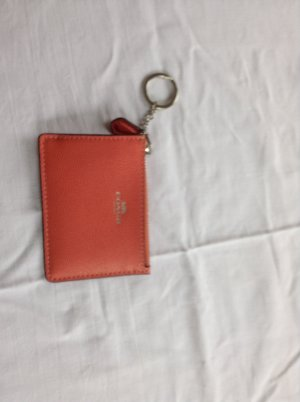 Coach Key Chain salmon leather