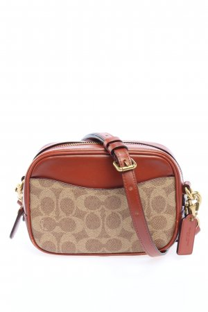 Coach Minitasche wollweiß-rot abstraktes Muster Casual-Look