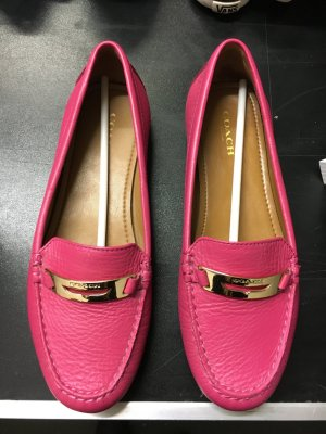 Coach Moccasins pink leather