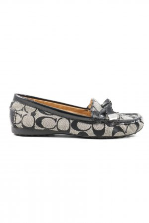 Coach Moccasins black-natural white allover print casual look