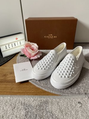 Coach Scarpa slip-on bianco