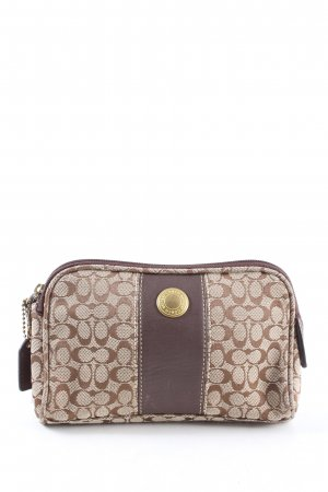 Coach Pochette crema-marrone stampa integrale stile casual