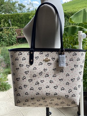 Coach Reversible Tote - Hearts