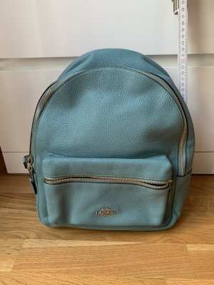 Coach Laptop Backpack sage green leather