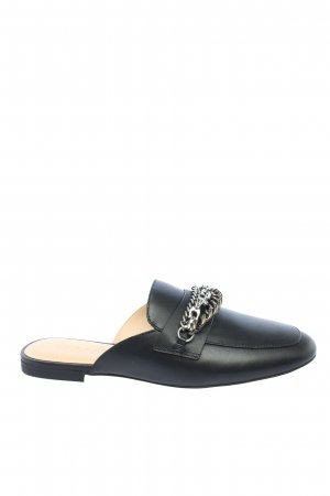 "Coach Zuecos ""Faye Multi Chains Loafer Slide"" negro"