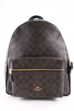 Coach School Backpack brown-black allover print casual look