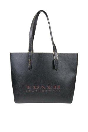 Coach Schultertasche in Schwarz aus Leder