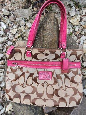 Coach Shopper lichtbruin-roze